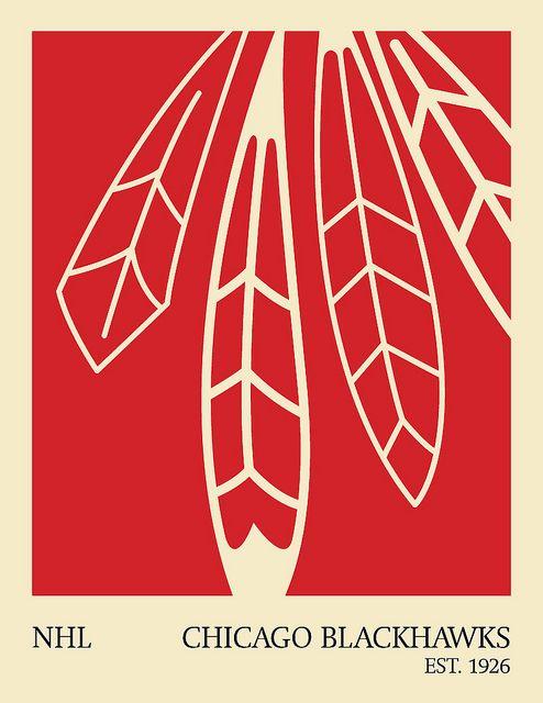 D'une série d'affiches minimalistes de la LNH pour célébrer mon sport préféré et le hockey …   – NHL