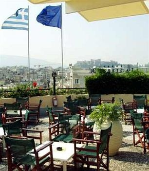 #Rooftop #dining, overlooking #Acropolis, at #Hotel #Stanley in #Athens, #Greece.