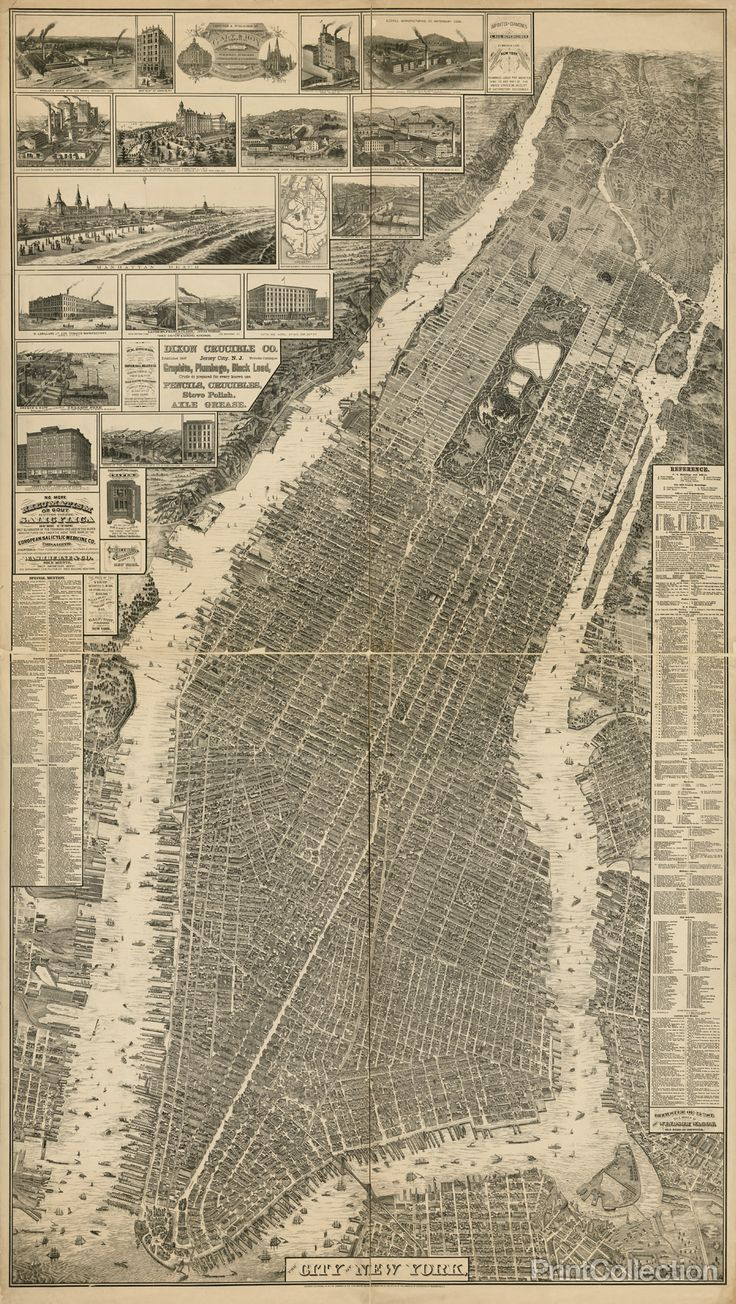 17 best images about vintage new york 1800 s new the city of new york map 1879