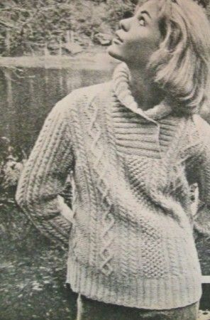 French Elle, irish sweater.