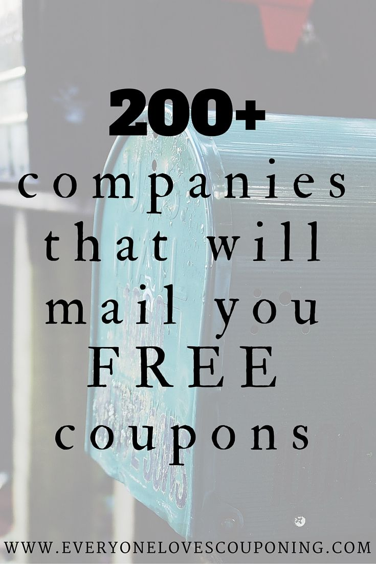200+ Companies You Can Contact For FREE Coupons! One of my favorite ways to get high-value and sometimes even FREE item coupons is e-mailing manufacturers. very simple and doesn't take a whole lo