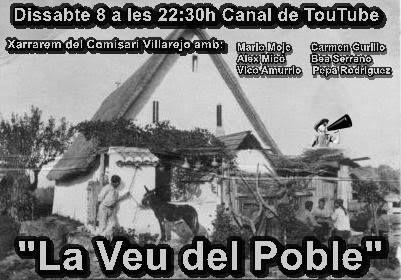 """Sabado 8 a las 22.30h """"La Voz del Pueblo"""" El Comisario Villarejo"""