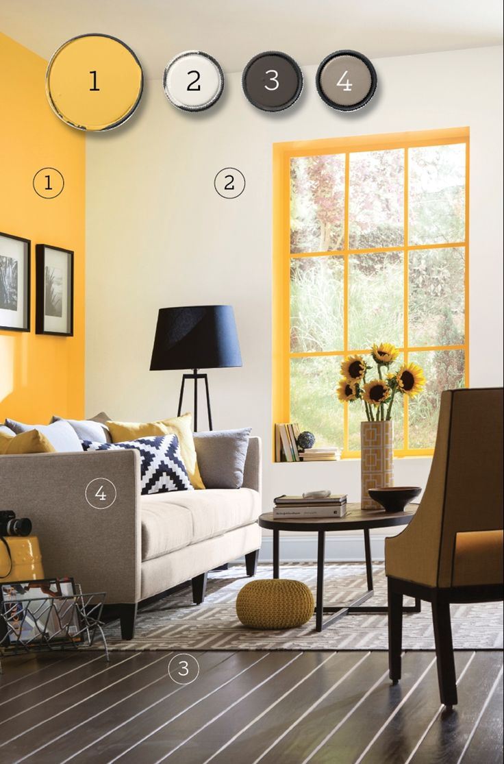 663 best images about paint ideas on pinterest Bright yellow wall paint