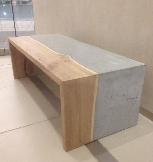 This would make a stunning dining table or even a kitchen for Mesa comedor hormigon