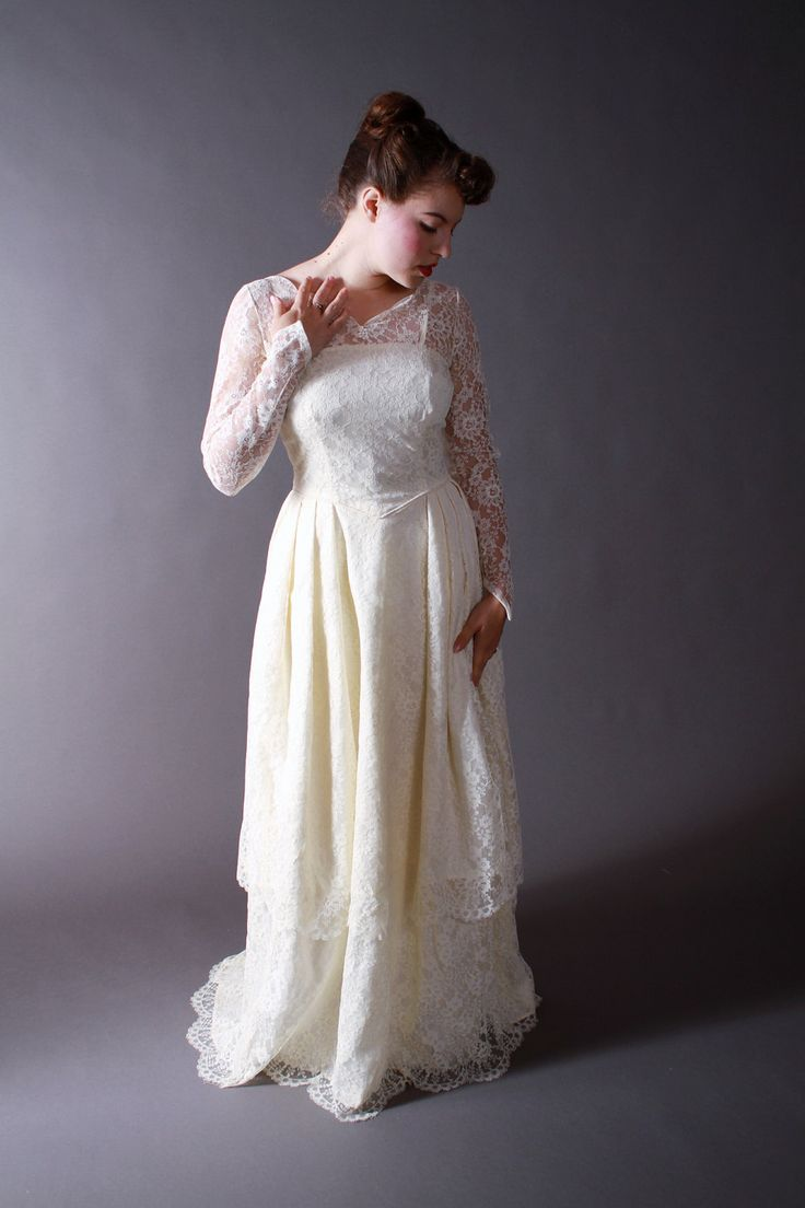 17 Best Images About Vintage Bridal Dresses On Pinterest