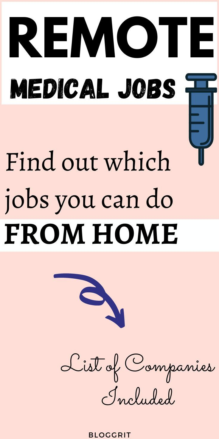 Remote Jobs You Can Do In The Medical Field Medical Jobs Remote Jobs Typing Jobs From Home