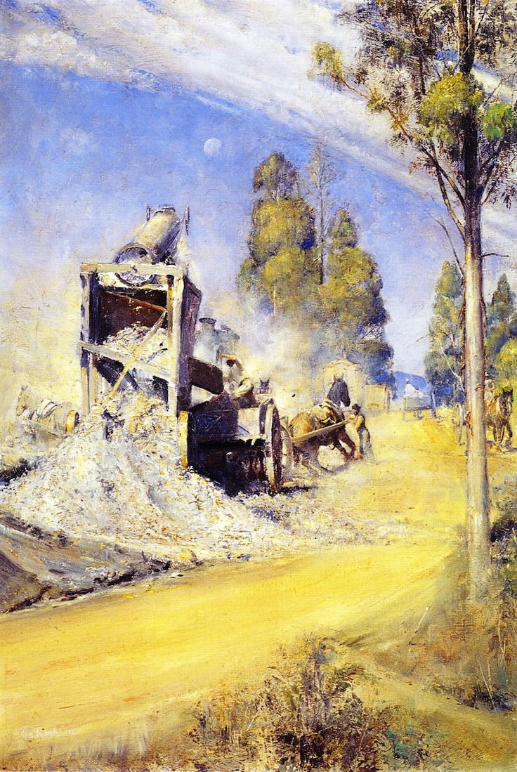 The Athenaeum - Country Road Makers (Tom Roberts - )