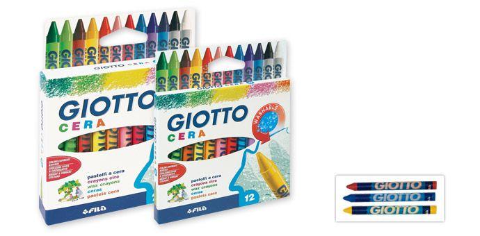 Lápis de cera Giotto (12 e 24 cores)