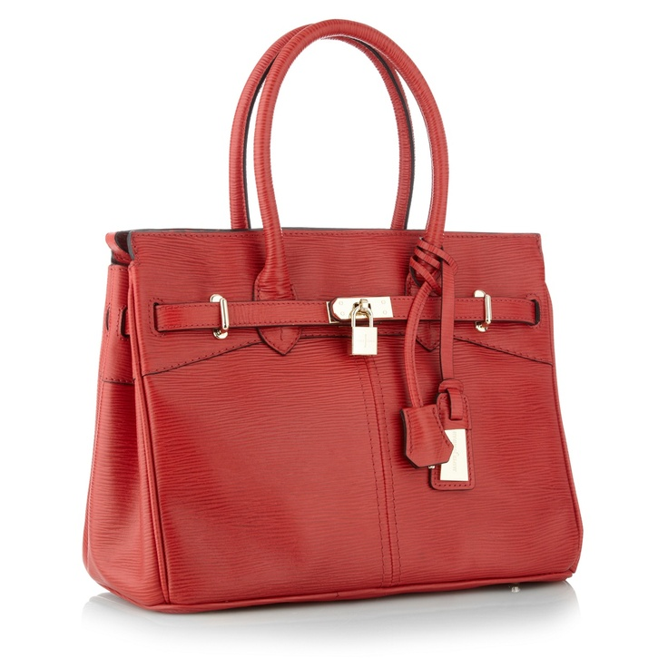 She deserves something simply beautiful like this J by Jasper Conran, red leather bag.