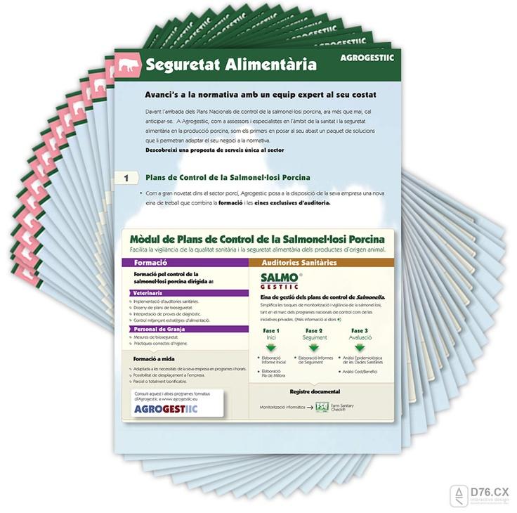 seguretat alimentaria plans de control salmonellosi porcina - flyer by D76