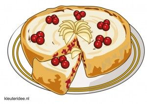 Taarten om te decoreren met scheerschuim, kleuteridee.nl, thema bakker voor kleuters /decorate cakes with shaving cream