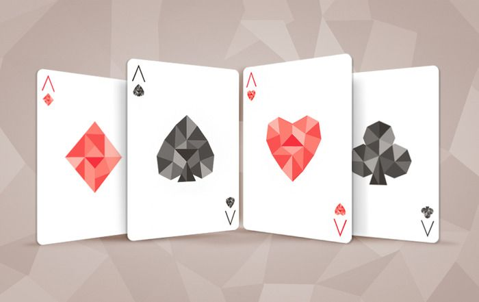 SHARDS - playing cards by michael Muldoon on Kickstarter.  The Aces