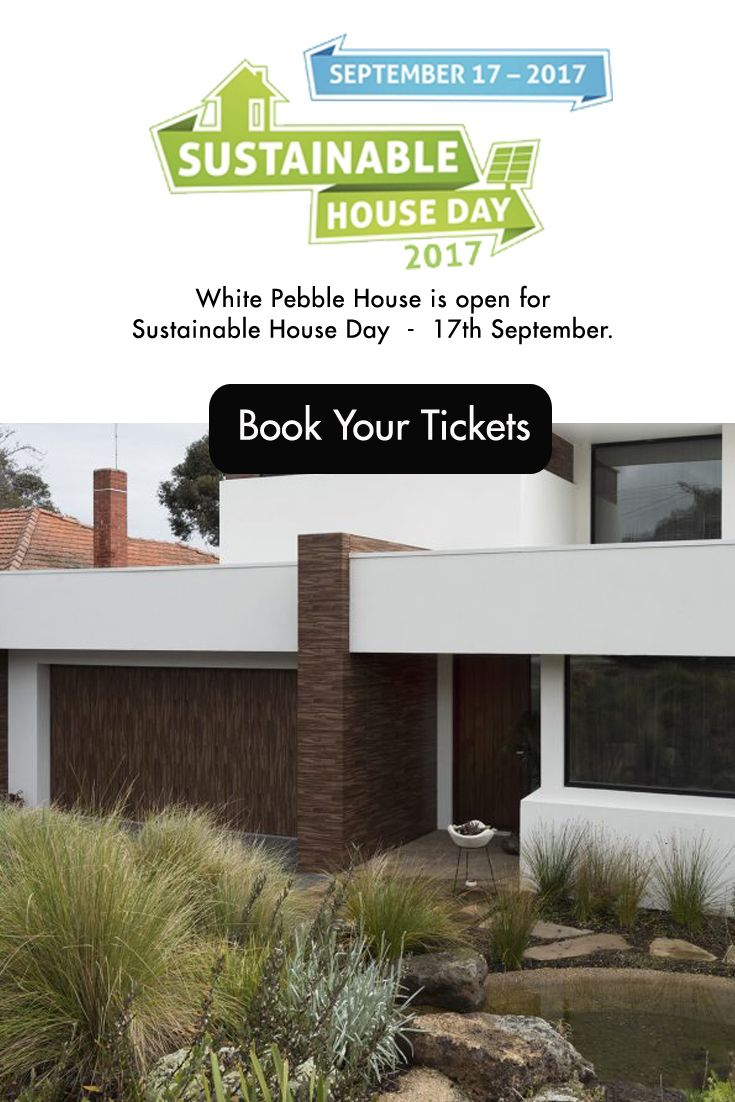 The White Pebble House is proud to be open to the public for Sustainable House Day where we show you how we created a home that blends sustainable principles and energy efficiency with good design.  Strictly by tour only, book your tickets now.  This sold out last year, so be quick!