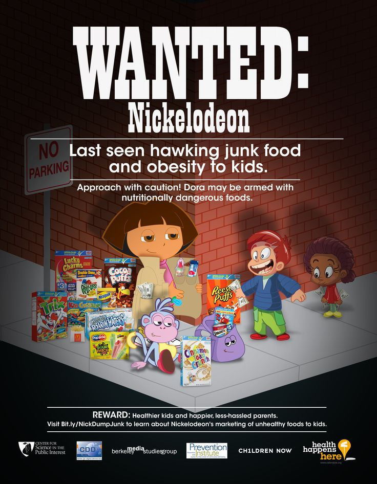 Nickelodeon is wanted again for marketing junk food and obesity to kids. Share if you agree it's time for Nickelodeon to dump the junk food ads and be a responsible media company!