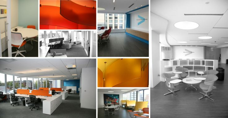 Warm colours against cool white background accenture for Accenture london office