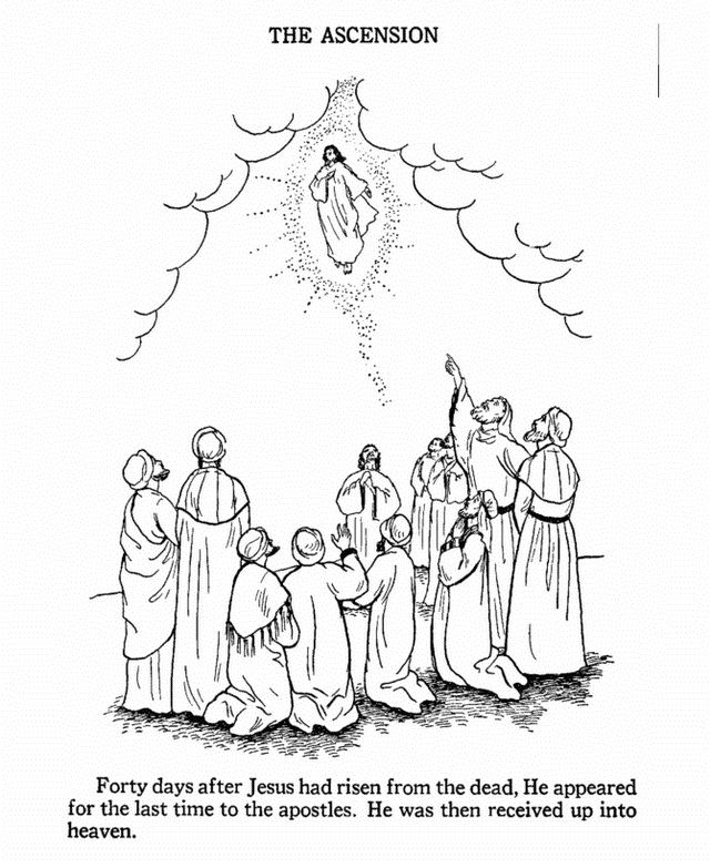 ascension of mary coloring pages - photo#15