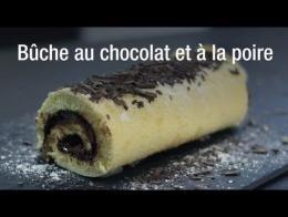 Recette de bûche au chocolat et à la poire