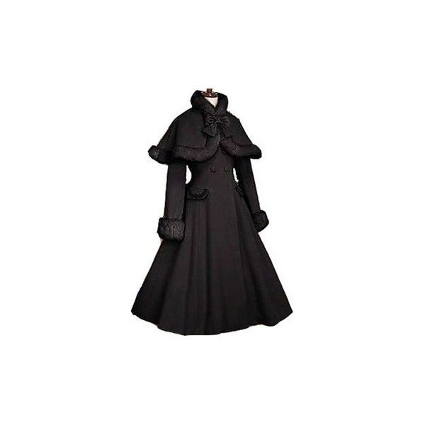 Gothic Lolita Coat adult princess belle costume medieval lolita dress... ❤ liked on Polyvore featuring costumes, dresses, coats, jackets, halloween, lolita, adult costume, adult belle costume, womens halloween costumes and womens princess costume