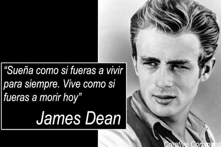 Una frase de James Dean, icono de la cultura estadounidense.