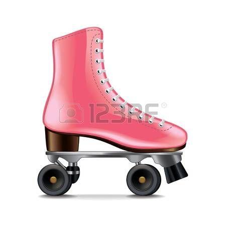pattinare: Pattini a rotelle isolato su bianco foto-realistica illustrazione…