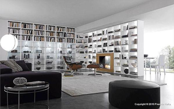 Living Room Storage Solutions, Ideas - 'Pari & Dispari' units by Presotto