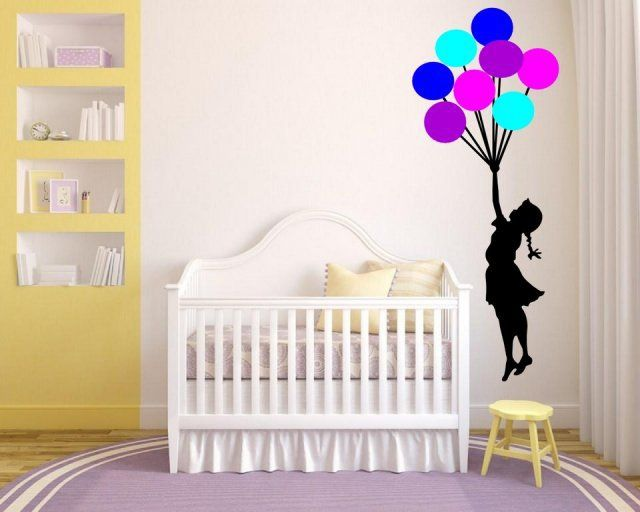 Banksy Wall Decal sticker vinyl street art graffiti bedroom kitchen balloon girl remove wall stickers for kids rooms home decor