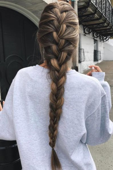 Beautiful Long Thick Braid on @cath_belle. xo