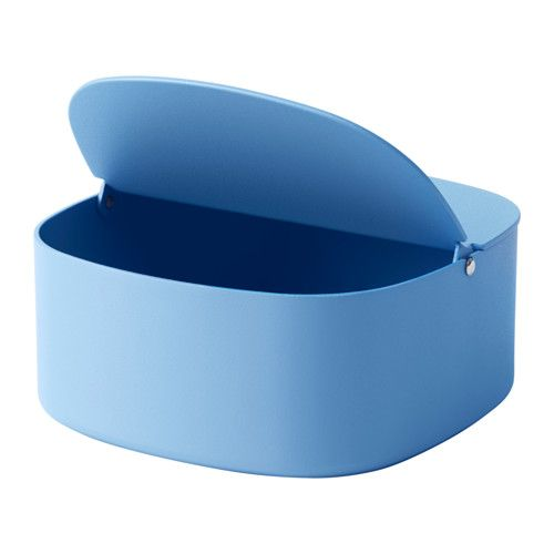 IKEA - YPPERLIG, Box with lid, Suitable for storing small items like desk accessories, hair clips or jewelry.Can also be used in bathrooms and other damp indoor areas.