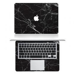 Stickers pour Mac Book Marbre Noir Mode 2015