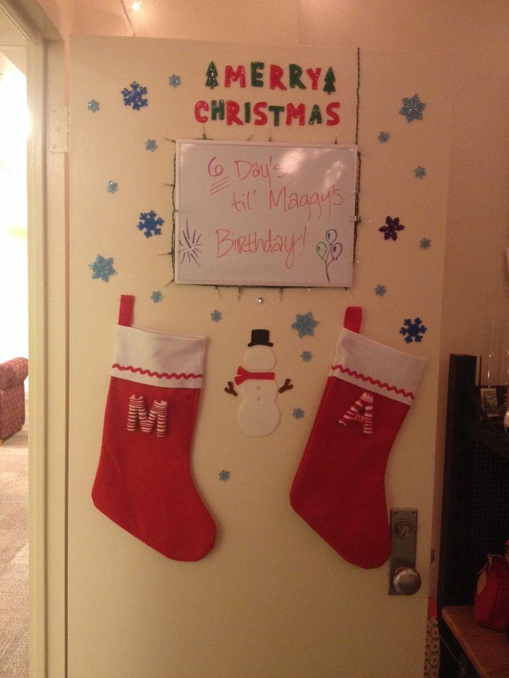Best Christmas Dorm Décor Images On Pinterest College Life - Decoration dorm door decorating ideas with pink walls dorms dorm door