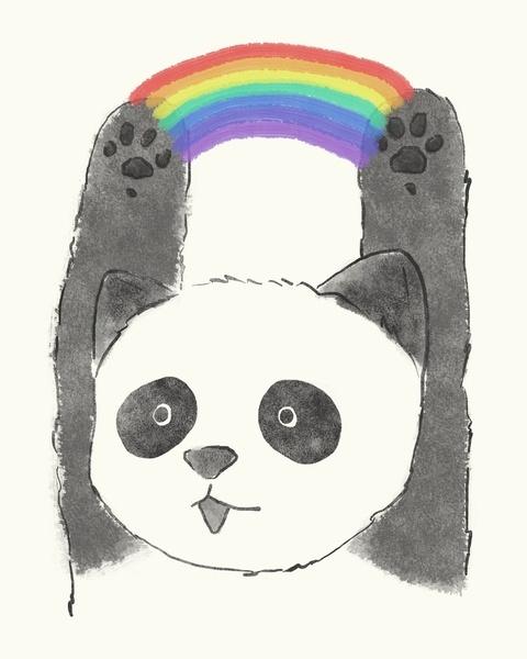 panda beam Art Print by Tipsyeyes | Society6