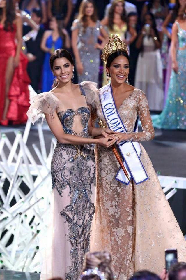 la nueva Señorita #Colombia 2016 que representara a nuestro país en Miss Universo, la afortunada fue la Señorita Choco, Andrea Tovar, quien recibió la corona de manos de Ariadna Gutiérrez