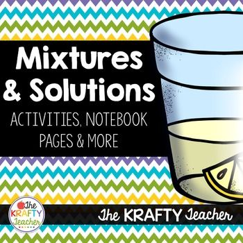 *Best Seller*Mixtures and Solutions was one of my favorite things to teach in 4th grade Science! This unit is FOCUSED on Mixtures and Solutions and assumes a background knowledge of Matter.