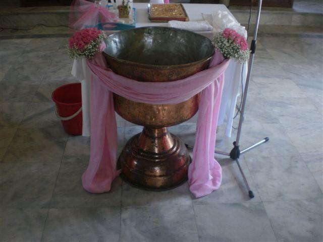 #pink#roses#babiesbreath#bouquet for#baptismalfont