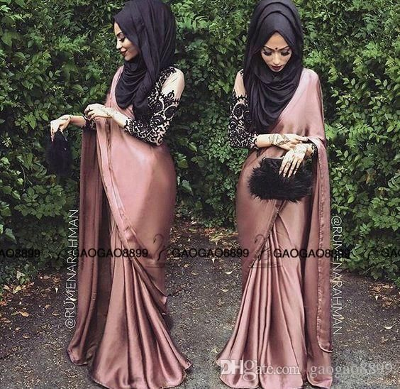 Nude Lace Chiffon Elegant Muslim Arabic Hijab Saree Long Sleeve Evening Dresses 2016 High Neck Full Length Occasion Party Formal Gown Long Evening Dresses Online Shopping Long Sleeved Evening Dresses Uk From Gaogao8899, $123.02| Dhgate.Com