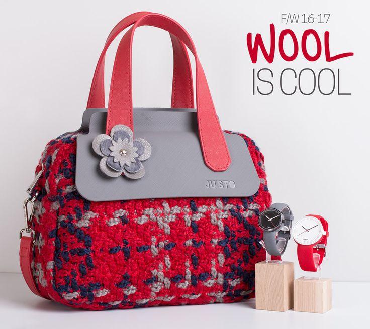 J-POPPY Medium in bouclè wool and J-WATCH. Fall Winter 16-17.