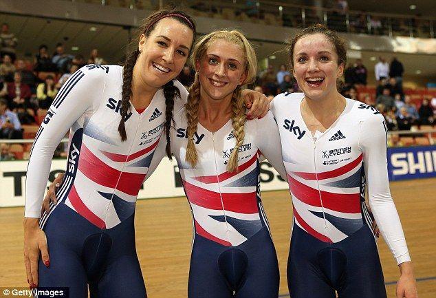 Laura Trott, Dani King and Elinor Barker team pursuit