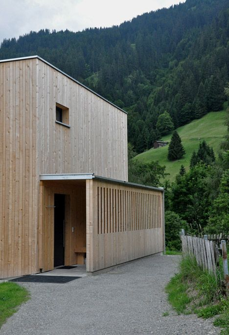 Timber clad haus m by exit architects is a skiing and
