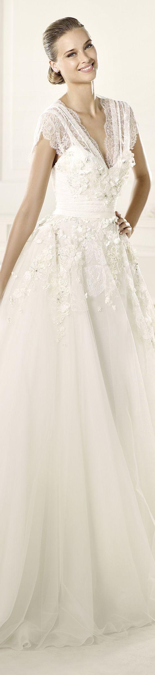"Elie by Elie Saab for Pronovias wedding dress ""Denisse"", 2013 Collections."