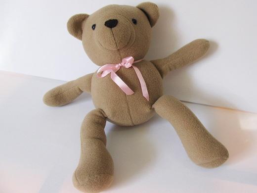Simple Fleece Teddy Bear sewing Pattern | Sewing ...