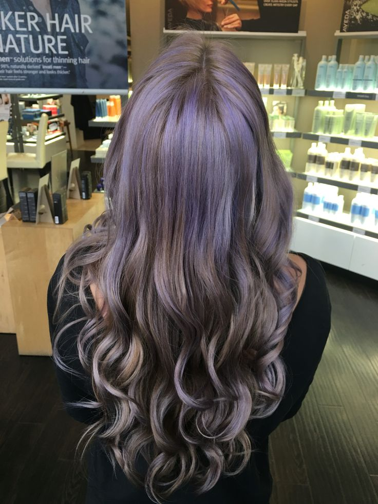 Hair by Kendra. Smoky purple highlights. To book an appointment with Kendra, call (780) 467-3288 or visit our website at www.sylviaco.com. Located in Sherwood Park, Alberta, Canada.