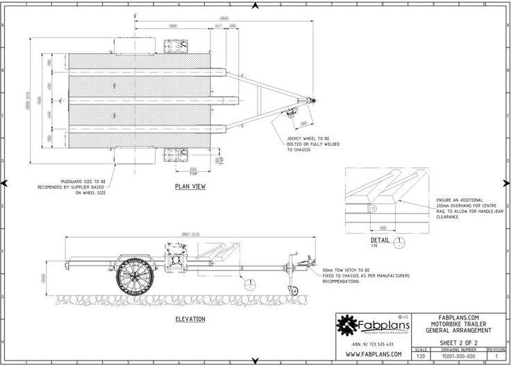 Motorcycle trailer plans 3 bike 7 39 x5 39 diy motobike for Free trailer plans