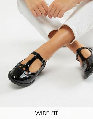 c36a8b05d94b Shop ASOS DESIGN Wide Fit Marky flat shoes at ASOS. Discover fashion online.