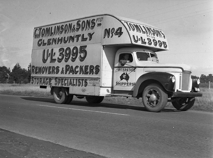 1946 Removalist on the road. VicRoads Centenary 1913 - 2013. www.vicroads.vic.gov.au