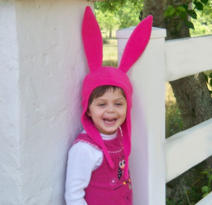 Louise's Pink Bunny Ears Hat by maycouture on Etsy, $22.00