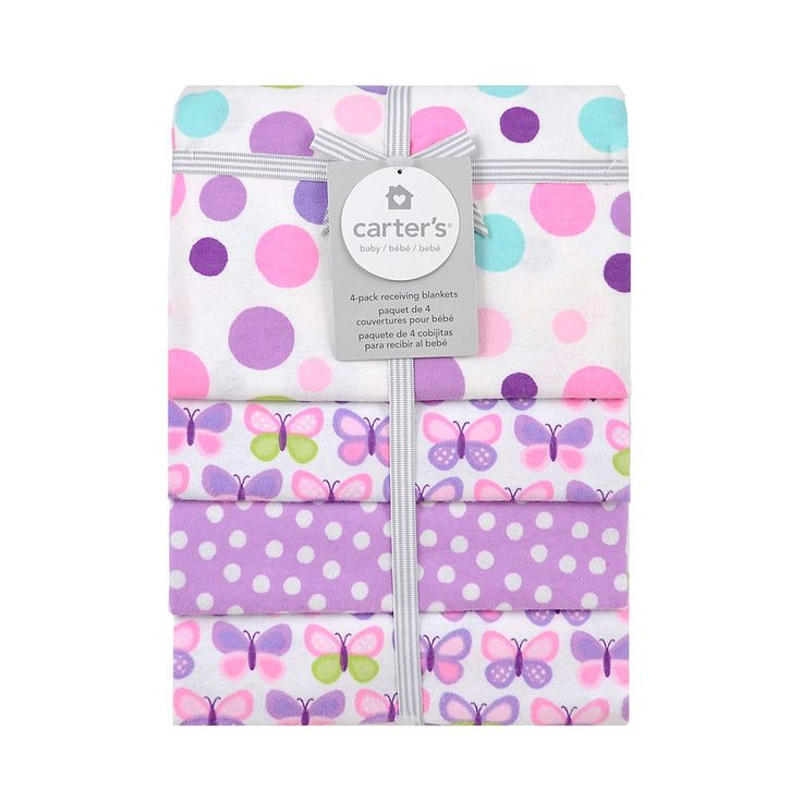 Carter S 4 Pack Receiving Blanket Butterfly Triboro