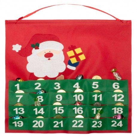 CALENDARIO ADVIENTO BETOX con serigrafía 1 color para decorar el hogar en navidad.