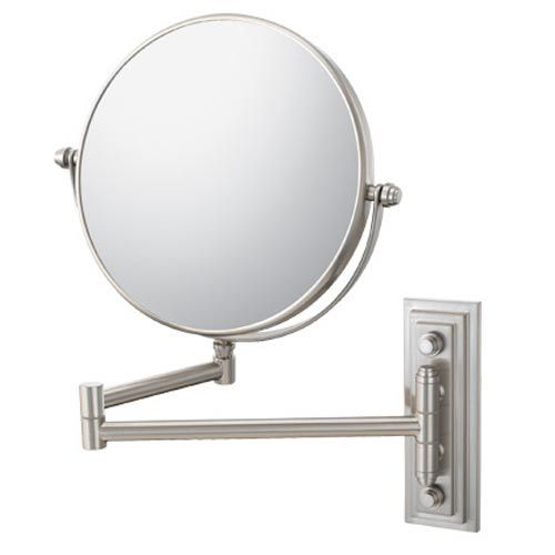Aptations mirror image brushed nickel classic double arm Bathroom wall mirrors brushed nickel