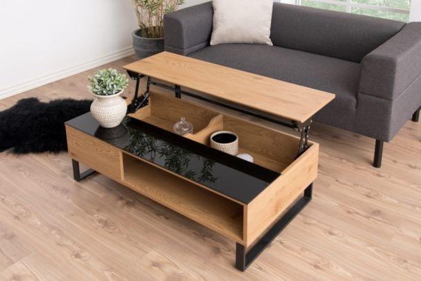 Table Basse Plateau Relevable Azalea Noir Et Chene Tables Basses But Table Basse Relevable Table Basse Table Basse Avec Plateau Relevable