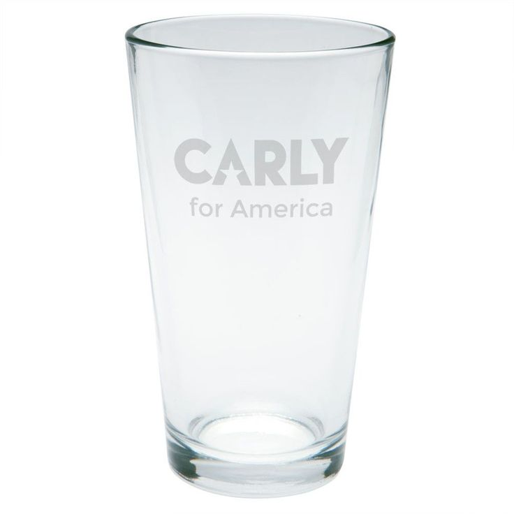 Election 2016 Carly Fiorina For President Etched Pint Glass